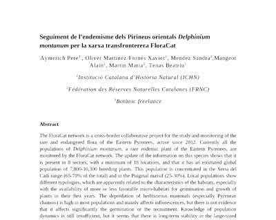 Visuel de l'article sur delphinium montanum